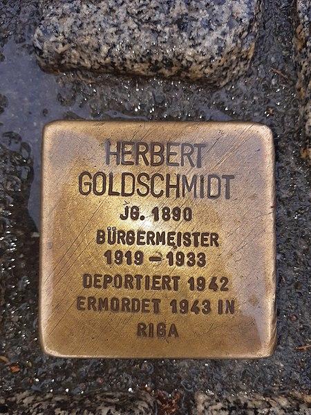 Datei:Goldschmidt Herbert Stolperstein Magdeburg.jpg