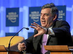 Premiership of Gordon Brown - Brown at the Annual Meeting 2008 of the World Economic Forum in Davos, Switzerland