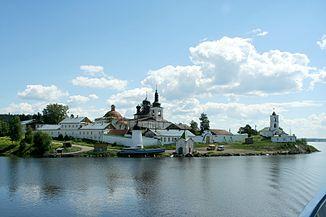 Nonnenkloster an der mündung der scheksna in die wolga bei gorizy