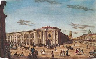 Great Gostiny Dvor - Great Gostiny Dvor in St Petersburg, 1815.