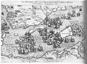 Battle of Bornholm (1563) - Naval battles of the Northern War: the Battle of Bornholm (1563) is on the left side