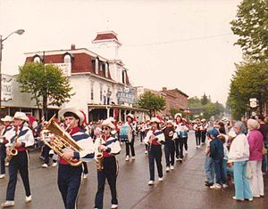 Gowanda, New York - Gowanda High School Marching Band at Springville Pageant of Bands, 1988