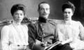 Grand Duchess Olga her brother Grand Duke Micheal and her sister Grand Duchess Xenia.png