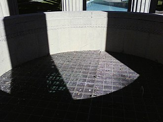Pulgas Water Temple - A grate was placed covering the entrance to Pulgas water temple