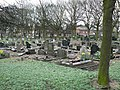 Graves in Hunslet Cemetery - geograph.org.uk - 144641.jpg
