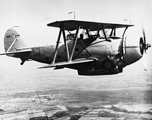 Great Lakes BG - The XB2G-1 with a retractable landing gear, 1936.