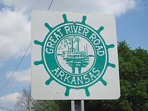 Great River Road - Great River Road sign in Arkansas