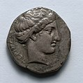 Greece, Terina, after 5th century BC - Stater- Head of Nymph (obverse) - 1916.982.a - Cleveland Museum of Art.jpg