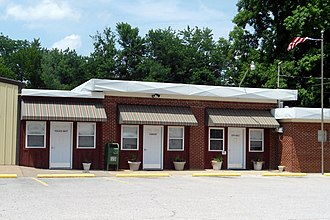 Greenland, Arkansas - Police department, library, and city hall