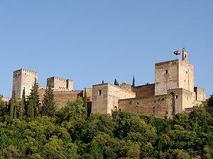 view of part of the Alhambra, taken from Albai...