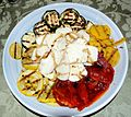 Grilled Vegetables, Polenta and Fresh Mozzarella.jpg