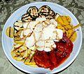 Grilled Vegetables, Polenta and Fresh Mozzarella.jpg