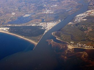 Guadiana International Bridge - Image: Guadiana Mouth