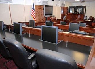 Guantanamo military commission - Court room where initial Guantanamo military commissions convened.