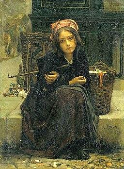 Guillaume Charles Brun - The ribbon seller