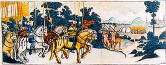 Reformation in Sweden - The army of Gustav Vasa on its way to defeat Nils Dacke during the Dacke War, caused partially in opposition to the Reformation.