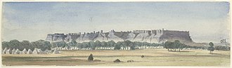 Gwalior Fort - Gwalior Fort seen from the Residency. 10 December 1868