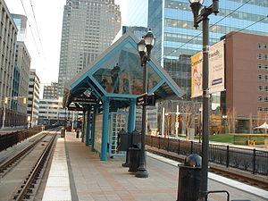 Harborside (HBLR station) - Image: HBLR Harborside Financial Center Station