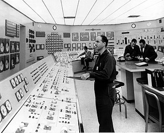 Dresden Generating Station - Control room of Dresden Station circa 1962
