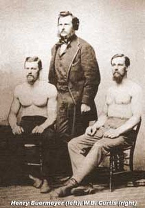 Harry Buermeyer - Harry Buermeyer (left) and Bill Curtis (right), circa 1870
