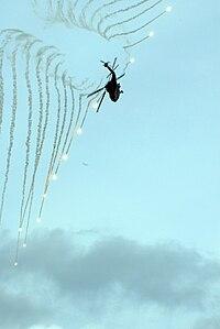 HH-60H Sea Hawk uses countermeasures