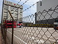 HK Sheung Wan Des Voeux Road West CRWest Sept-2015 DSC Western Fire Services Street wire netting HKEC Substation bldg bus car park.JPG