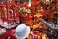 HK WC 灣仔街市 Wan Chai Market 太原街 Tai Yuen Street stall red chinese lucky items Jan 2017 IX1.jpg