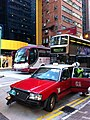 HK Wan Chai Gloucester Road Luard Road Taxi kiss 08 traffic accidence Policeman Nov-2012.JPG