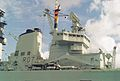 HMS Ark Royal (R07) Invincible class aircraft carrier 22,000 tons, Royal Navy. (11561937395).jpg