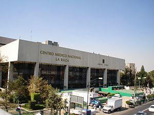 The IMSS La Raza Medical Center, a typical pub...