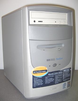 HP Pavilion (computer) - HP Pavilion 4450 (1999) Intel Celeron 366 MHz.