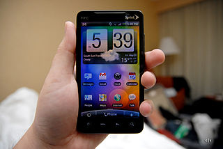 HTC Evo 4G Android smartphone developed by HTC Corporation