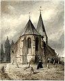 HUA-206198-Gezicht vanaf het kerkhof op de Nederlands Hervormde kerk te Maarssen uit het oosten met op de voorgrond twee rouwende vrouwen bij een graf.jpg