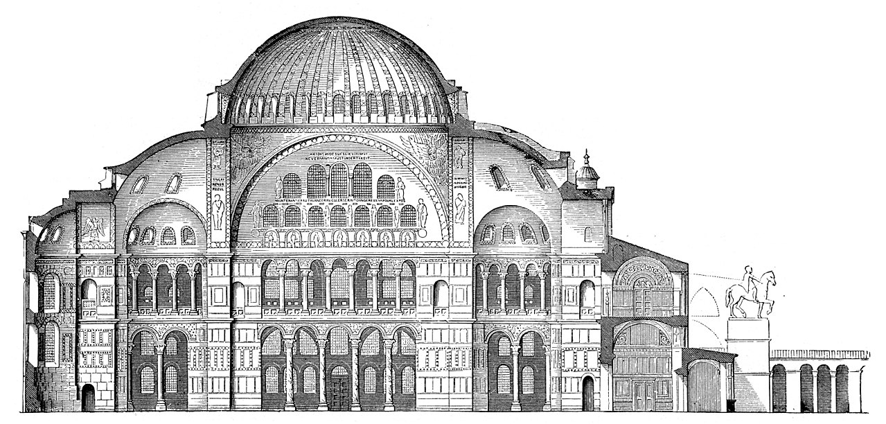 Byzantine empire 1280px-Hagia-Sophia-Laengsschnitt