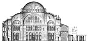 A section of the original architecture of Hagia Sophia