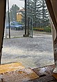 Hailstorm duing Day 3 dinner at Wikimania 2016 seen from inside tent.jpg