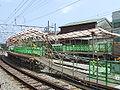 Hakone Tozan Railway Kazamatsuri station Temporary-Platform.jpg