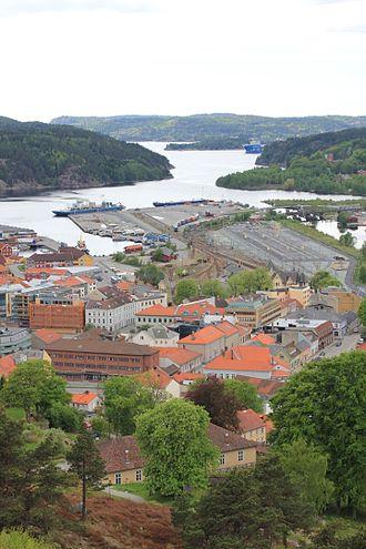 Iddefjord - Iddefjorden seen from Fredriksten