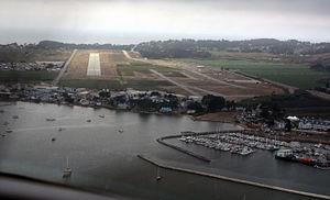 Half Moon Bay Airport - 2015 photo short final runway 30