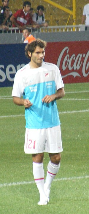 Hamit Altıntop - Altıntop playing for Turkey in 2010