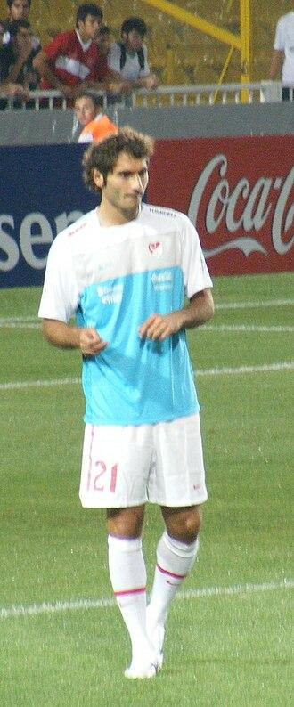 Hamit Altıntop - Altıntop playing for Turkey in 2010