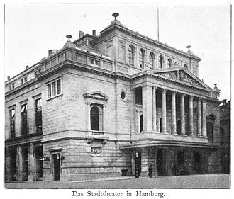 Hamburg State Opera - The same building, redecorated in 1890, destroyed in 1943