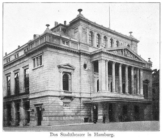 Городской театр Гамбурга в 1890 году
