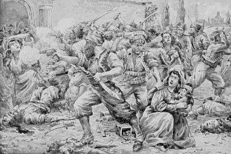 Anti-Armenian sentiment - Sketch by an eye-witness of the massacre of Armenians in Sasun in 1894