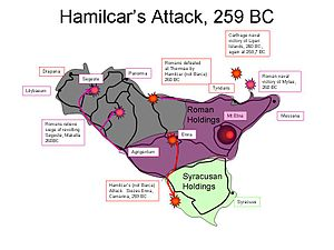 First Punic War - Hamilcar's attack.