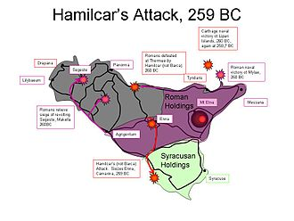 First Punic War - Image: Hamilcarattack