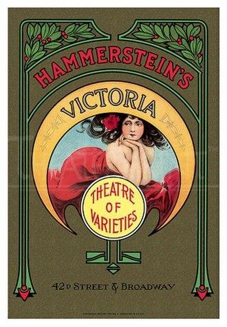 Willie Hammerstein - 1913 poster for the Victoria