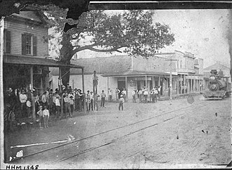 Hanging tree (United States) - Image: Hanging Tree Lynching Orange Texas 1888
