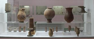 National Museum, New Delhi - A view of the pottery from the Harappan gallery