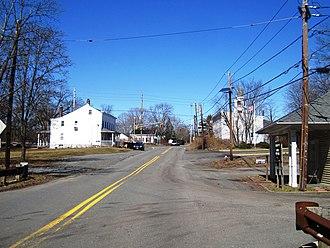 Harlingen, New Jersey - Harlingen as seen from westbound Harlingen Road